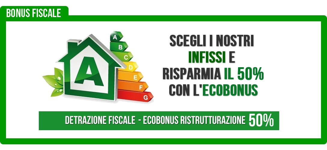 ecobonus detrazione fiscale infissi a risparmio energetico