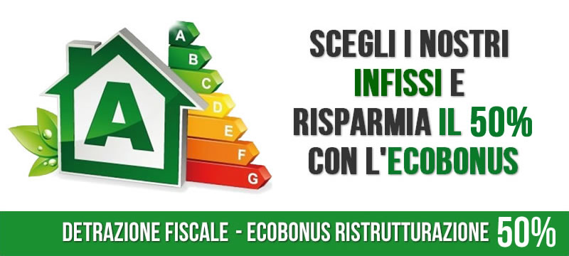 ecobonus infissi 50% e 65%