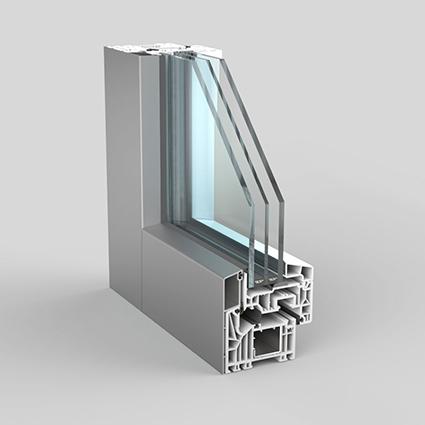 Maniglia per finestra con bottone automatico bianco SCH/ÜCO Design Corona CT 70 // SI 82